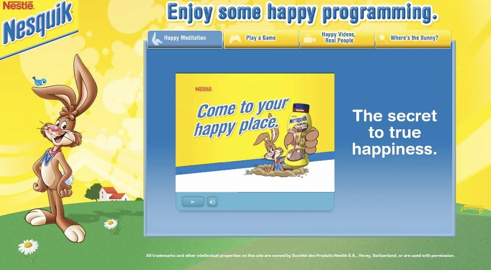 The use of cartoon characters and interactive websites to attract children