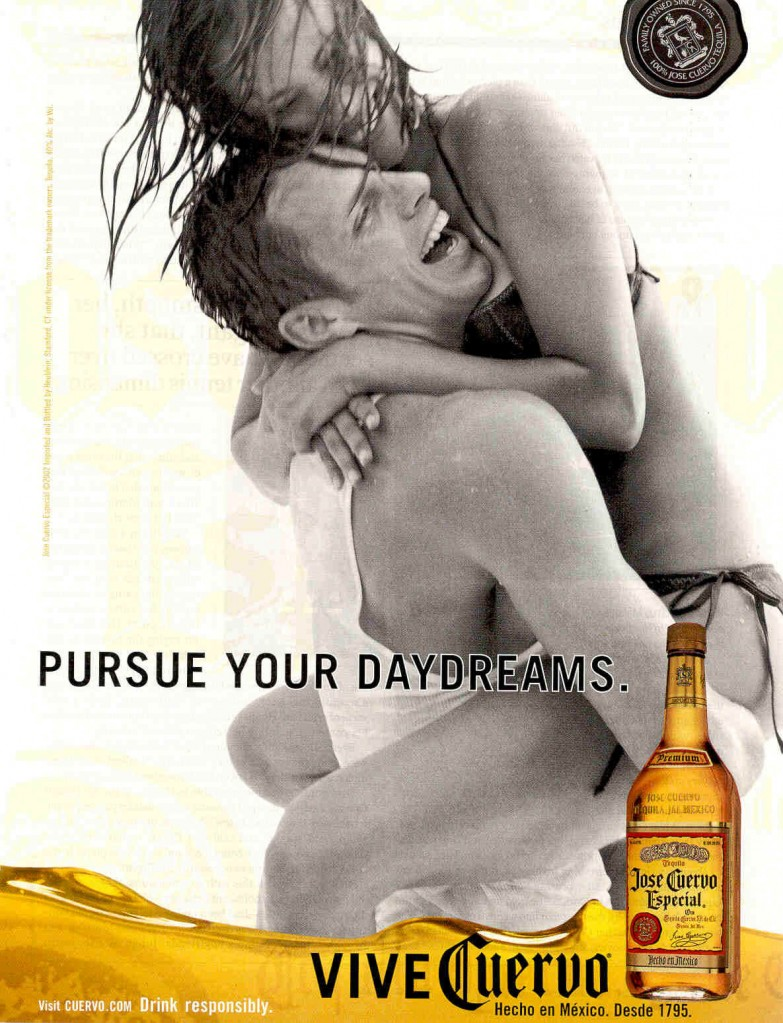 Enticing its audience to endorse alcohol in order to obtain happiness
